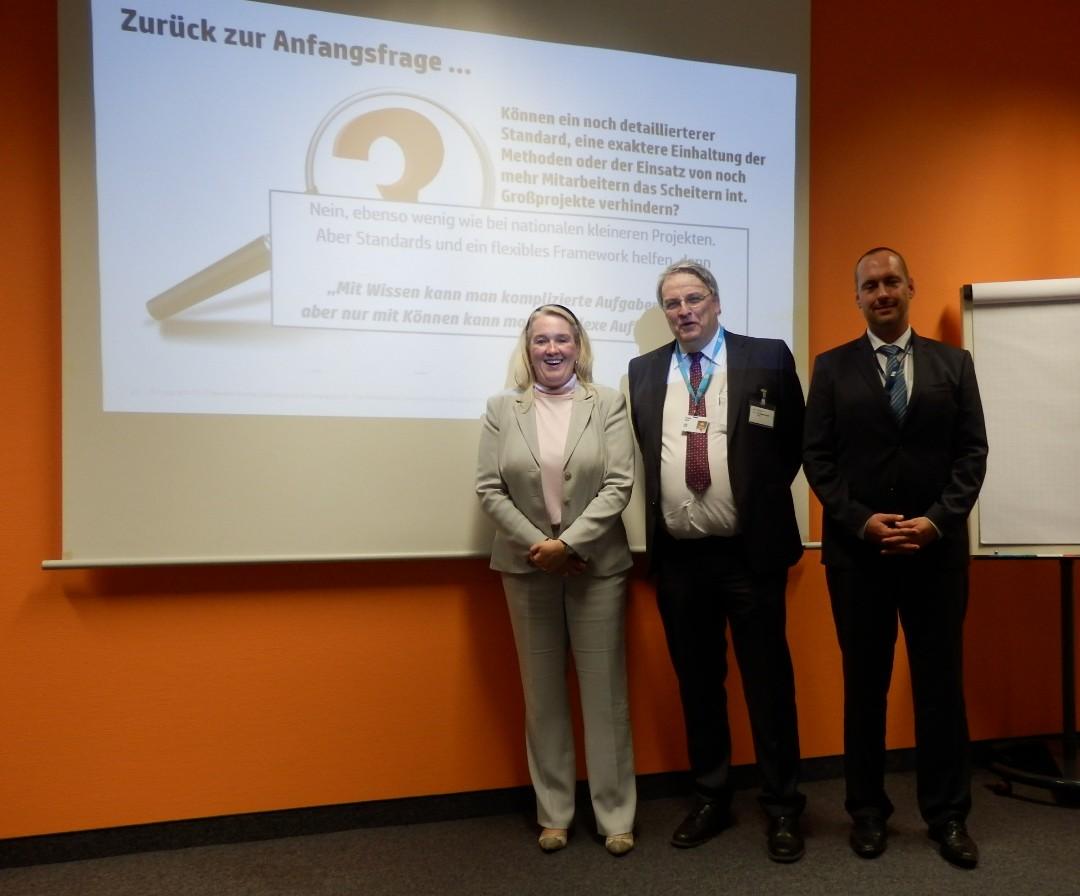 Chaptermeeting in Ratingen: Andrea Ritschel, Thomas Brand, Thomas Schier