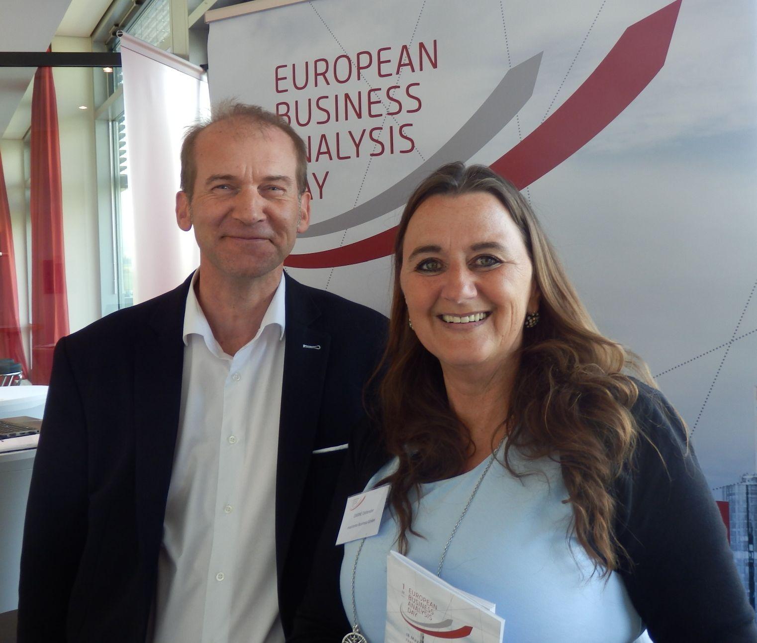 BA Day 2018: Sabine Ostlender, managing director of masVenta Business GmbH, and Robert Baumgartner, PMP, VP Finance & Sponsoring of PMICC