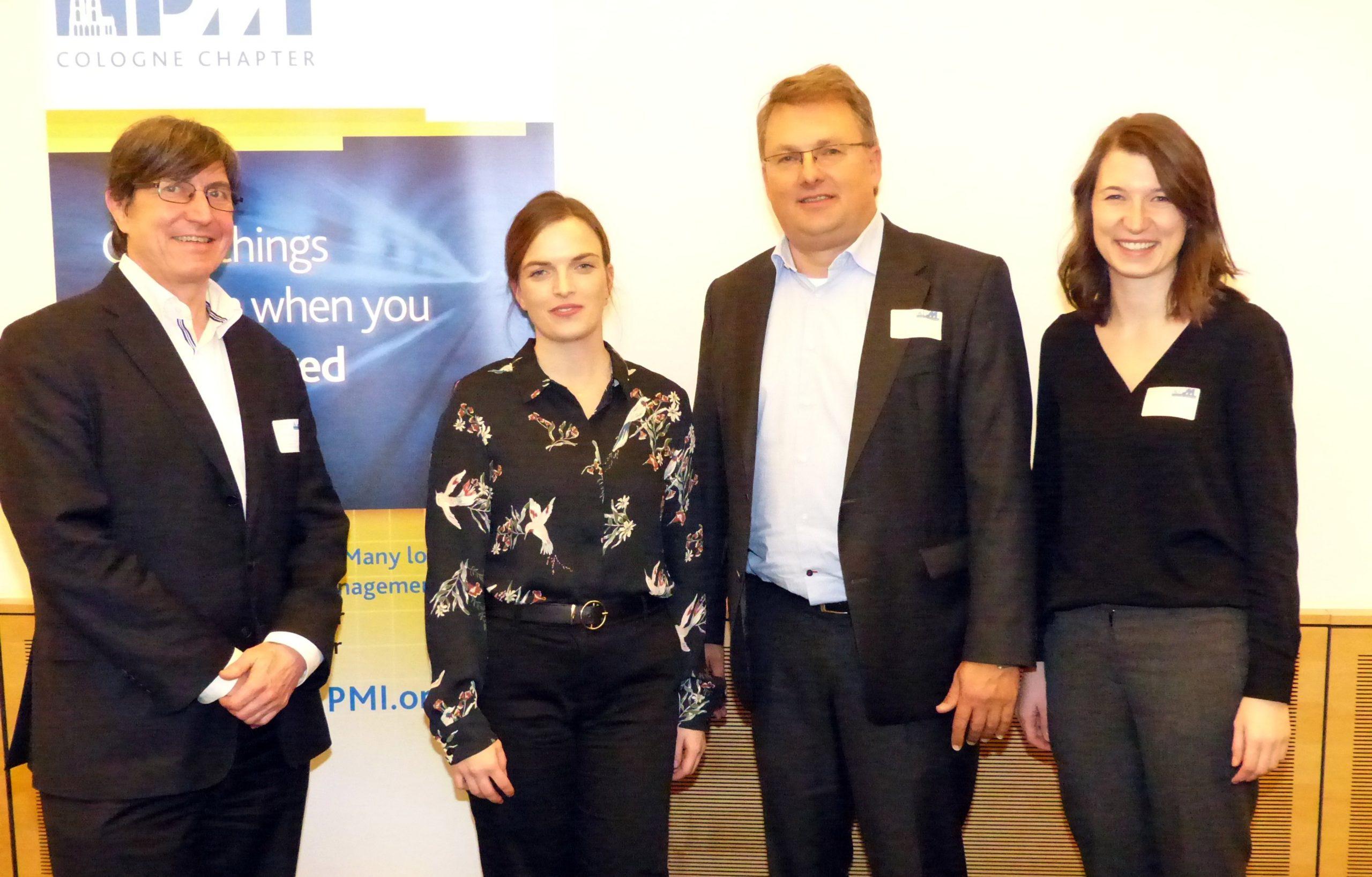 Dr. Peter Fey, Frau Patricia Zipperling, Prof. Ayelt Komus, Frau Sonja Schmidt